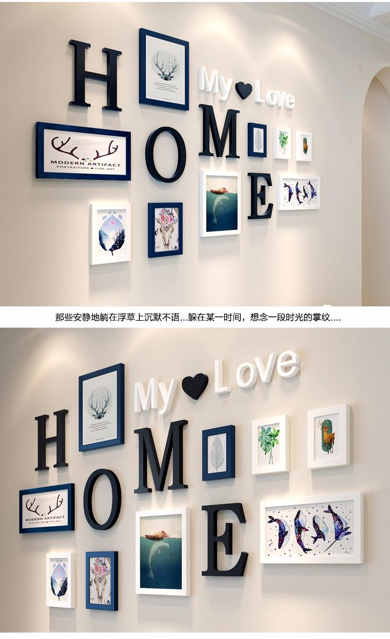 Stylish Wall Decoration Ideas With Photo Frames And Letters | Home ...