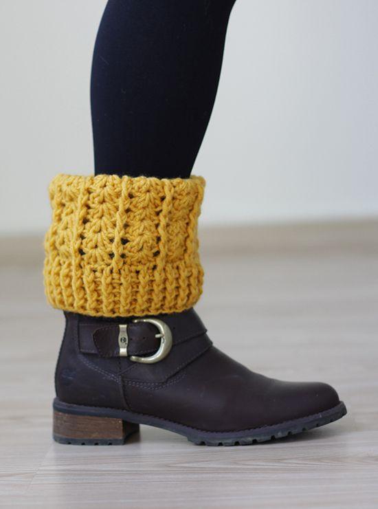 Crochet boot socks, Crochet boot cuffs, | Perneiras | Pinterest ...
