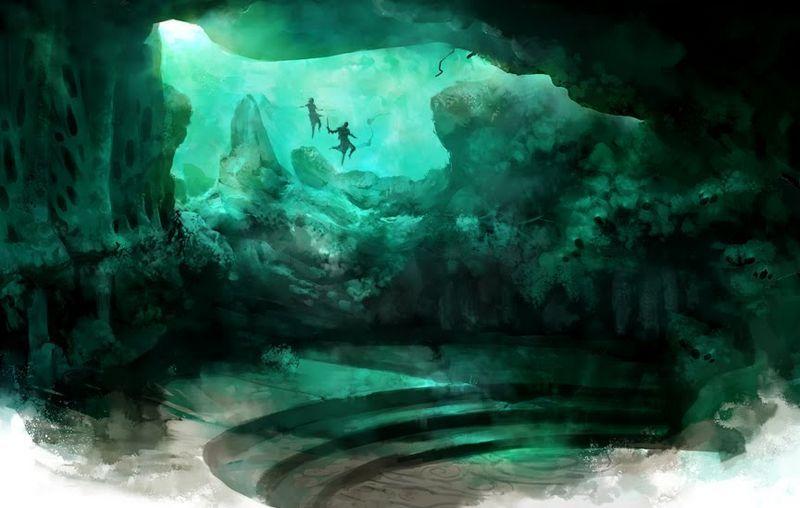 Scary Underwater Cave An Underwater