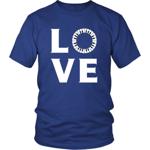 [product_style]-Piano - LOVE Piano - Music Instrument Shirt-Teelime