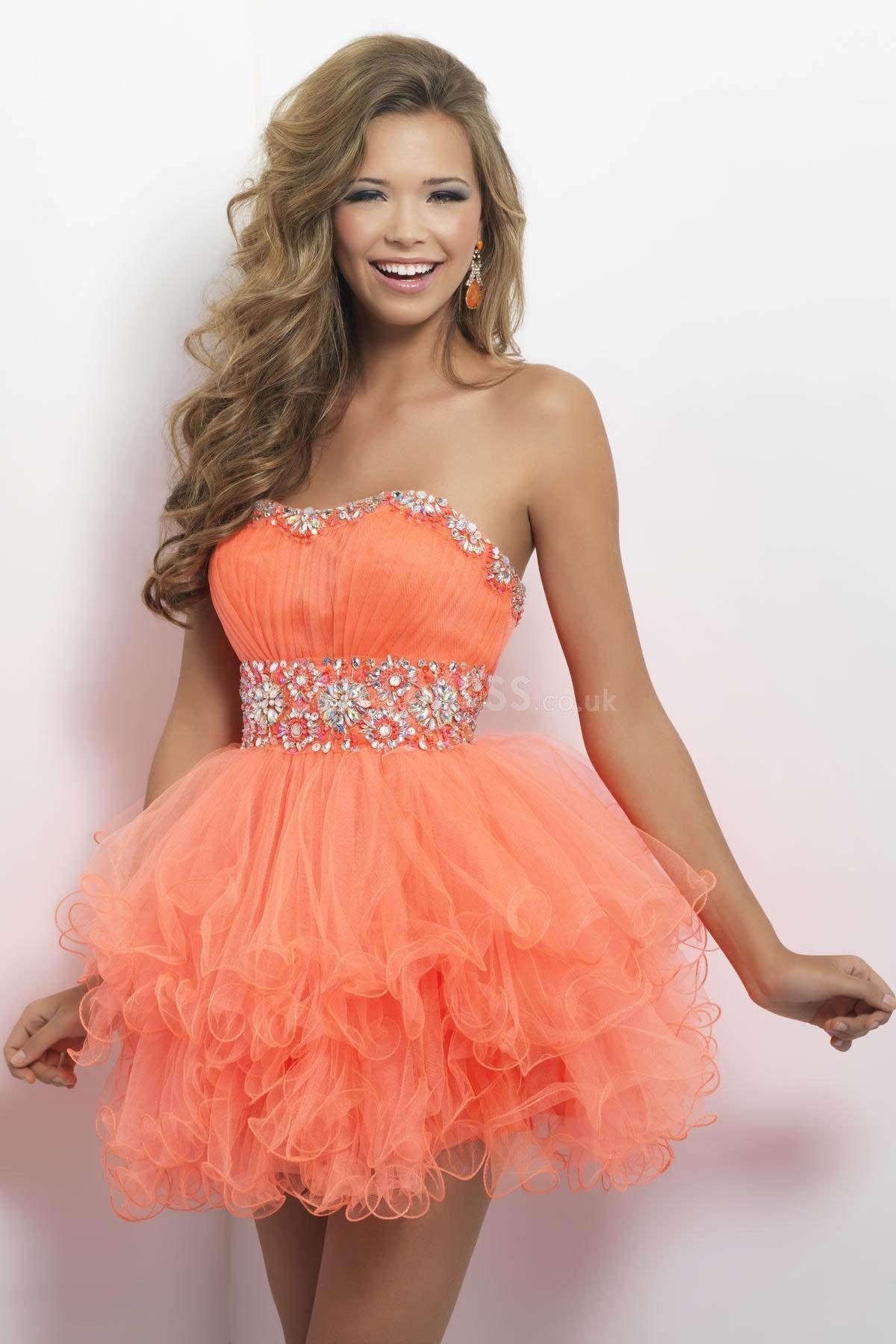 Baby Doll Prom Dress short prom dress orange prom dress My style