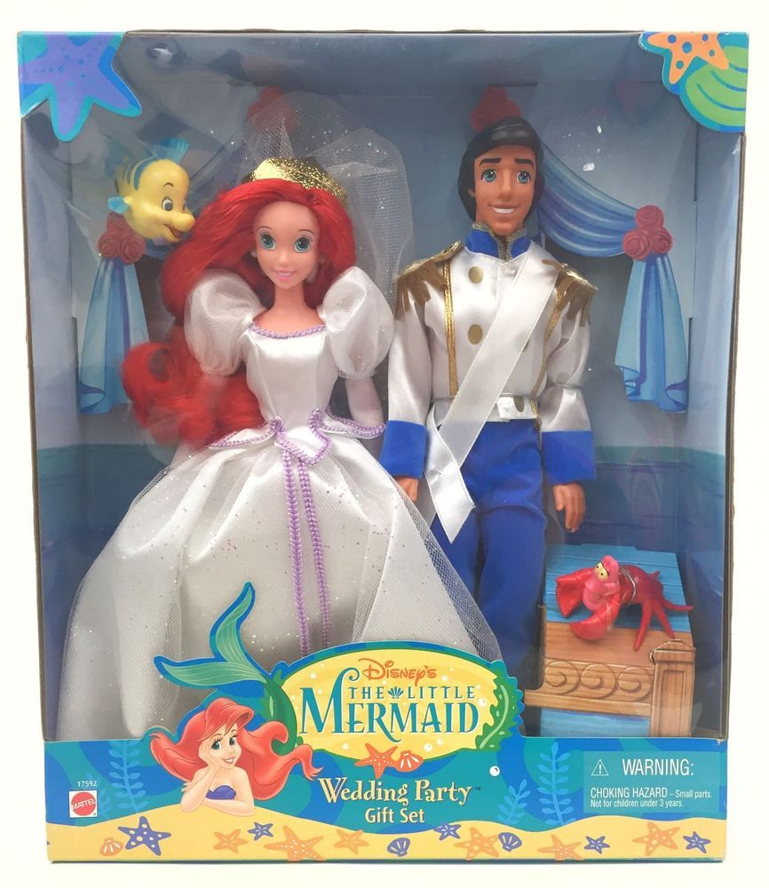 Disney's Little Mermaid Wedding Party Gift Set Ariel Eric