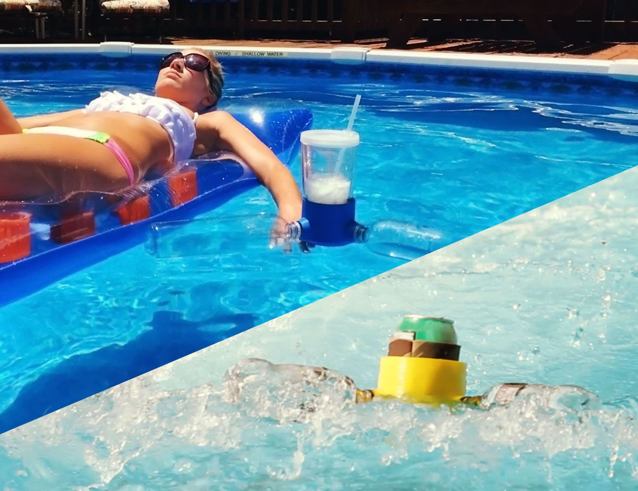 The Thirst Mate is an eco-friendly floating drink holder that upcycles plastic bottles to float.