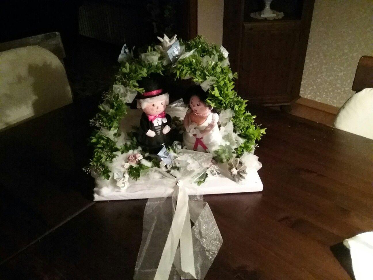 """Geldgeschenk zur weißen oder standesamtliche Hochzeit ..........❤  """" Die Braut vor Glück heute strahlt. Ein Anblick wie gemalt.    Es sprüht vor Lebenslust, mit Stolz geschwellter Brust der Bräutigam daneben.                        Hoch sollen beide leben! """"  💏"""