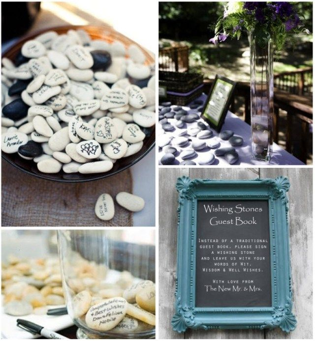 Make your own unique wedding guest book! More ideas on our wedding ...