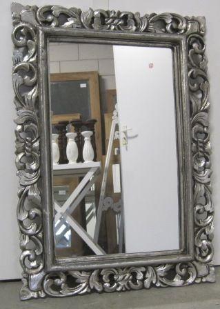 Ttm wonen teak meubelen perzische tapijten en for Grote zilveren spiegel