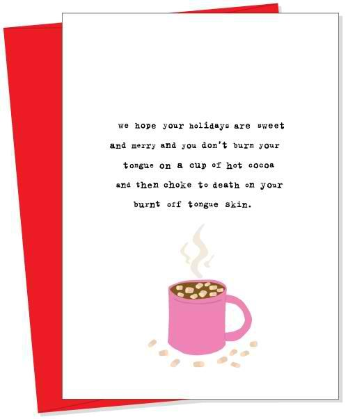 15 of the funniest christmas cards Zero fruitcake jokes Funny - friendship card template