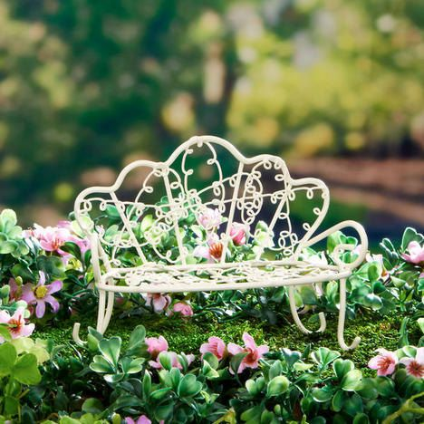 Whimsical Fairy Garden Bench, Fairy Garden Accessories, Garden Miniatures