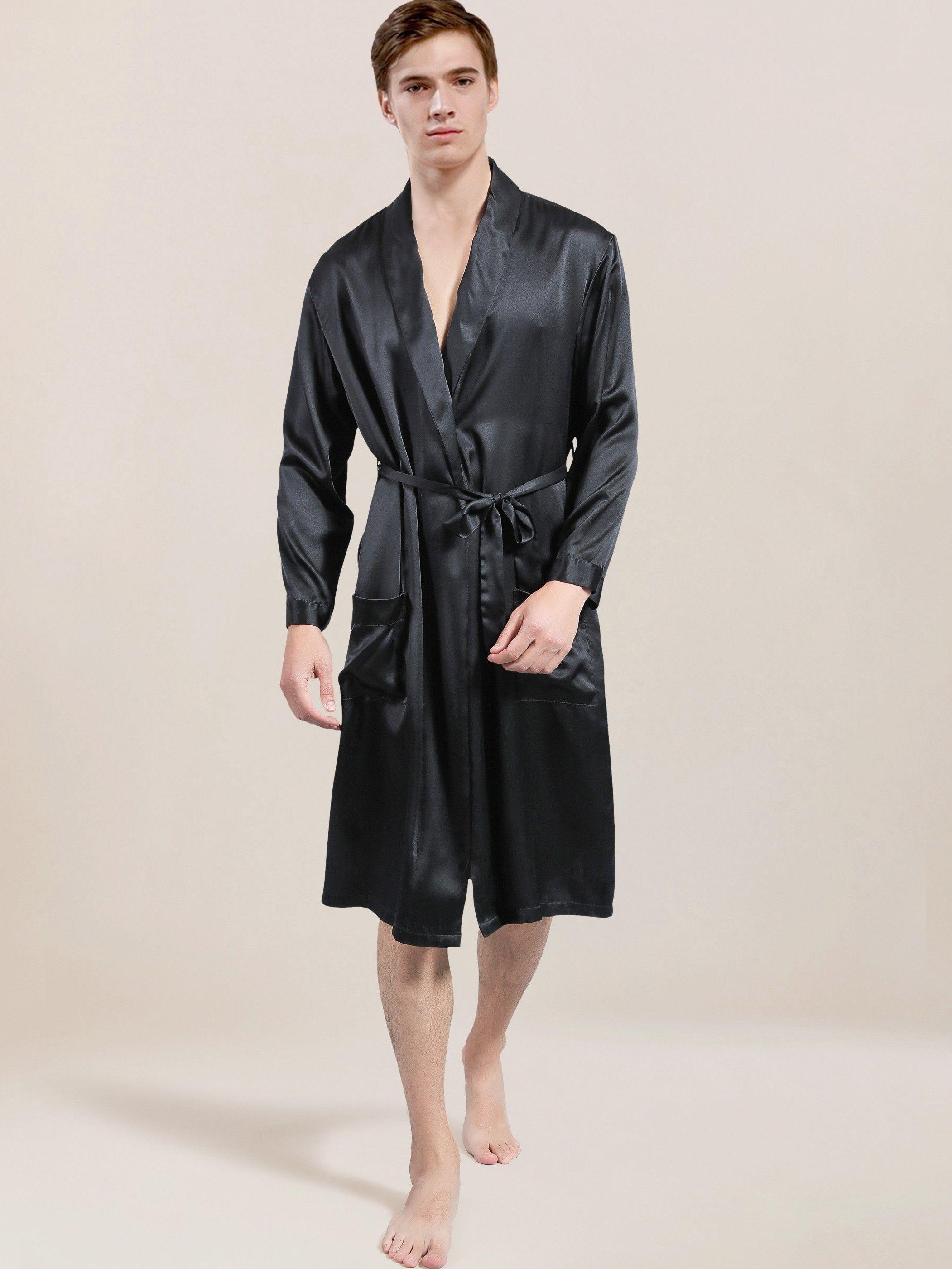 c5f3145b61 Mulberry Silk Robe for Men  silkrobesnightwear