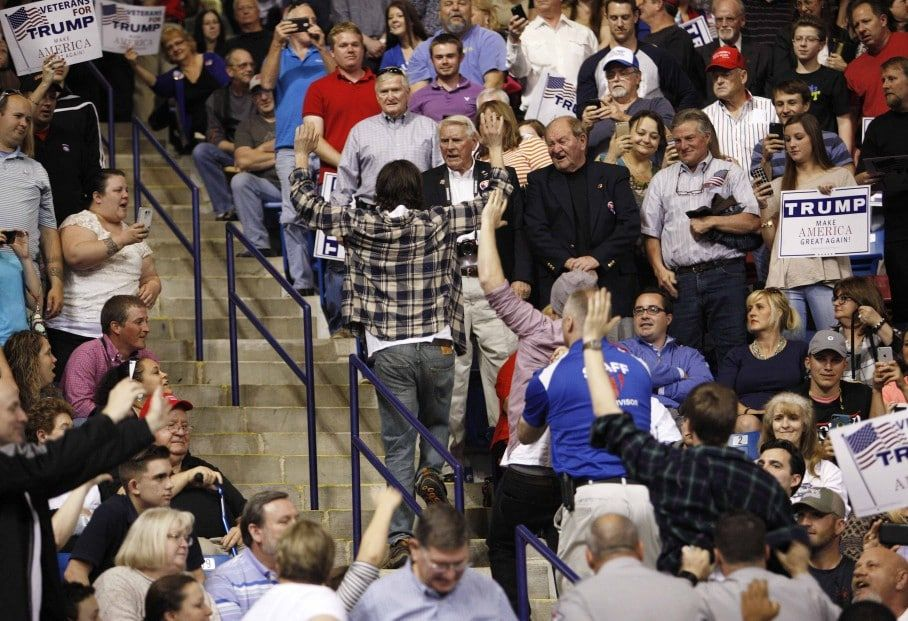 Trump supporter charged after suckerpunching protester at
