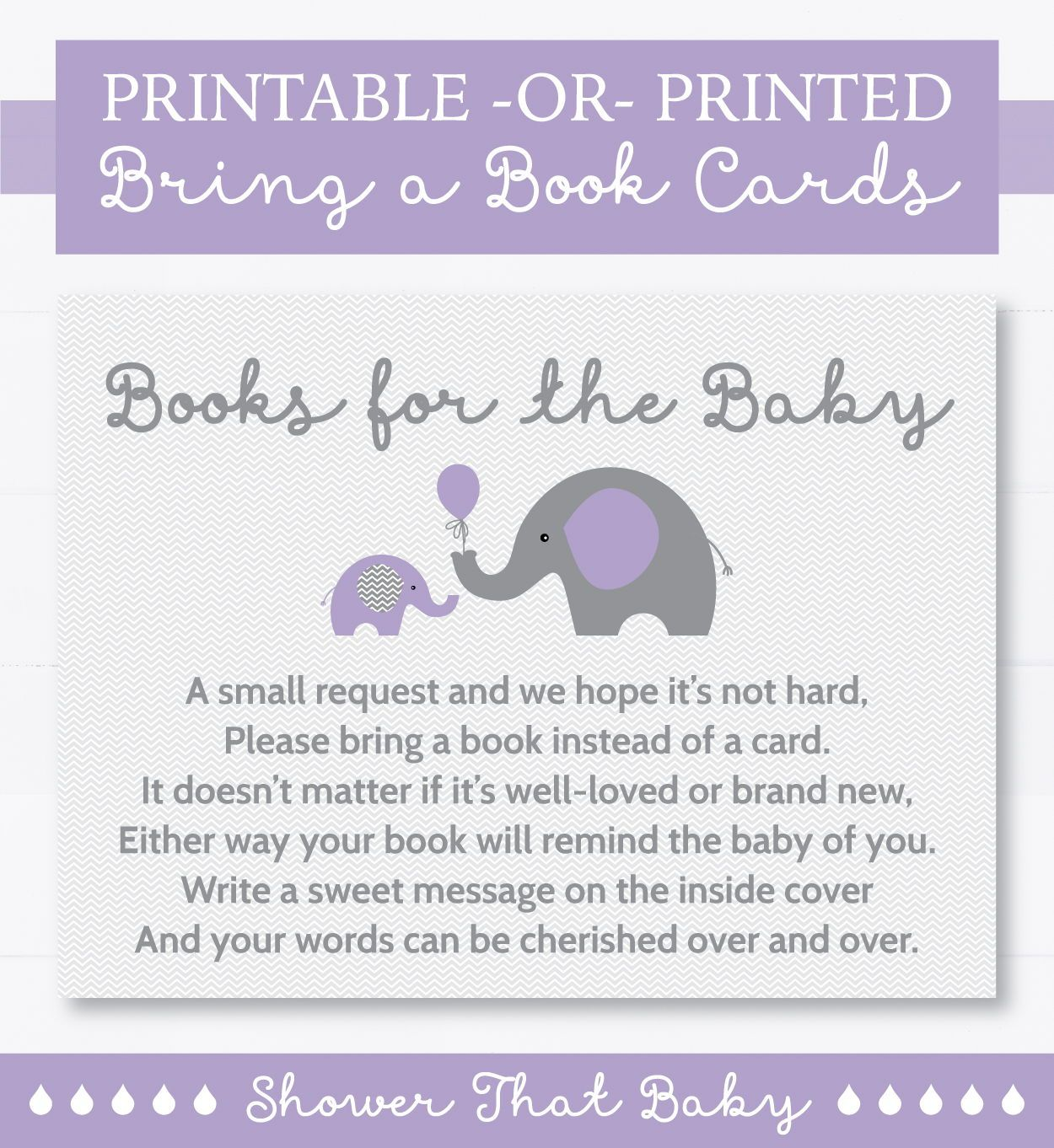 20 BLUE ELEPHANT OR PINK ELEPHANT BABY SHOWER FAVORS ADVICE CARDS