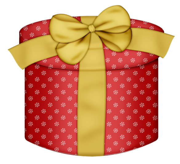 Red Round Gift Box With Yellow Bow Png Clipart Round Gift Boxes Gifts Happy Birthday Clip Art