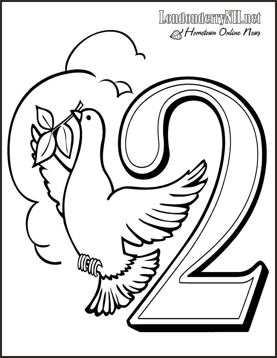 2 Turtle Doves Coloring Page | 12 Days of Christmas | Pinterest ...