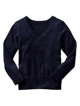 V-neck sweater - GapKids uniforms are better than ever. Now in NEW modern fits, softest fabrications and cool-kid prints + colors.
