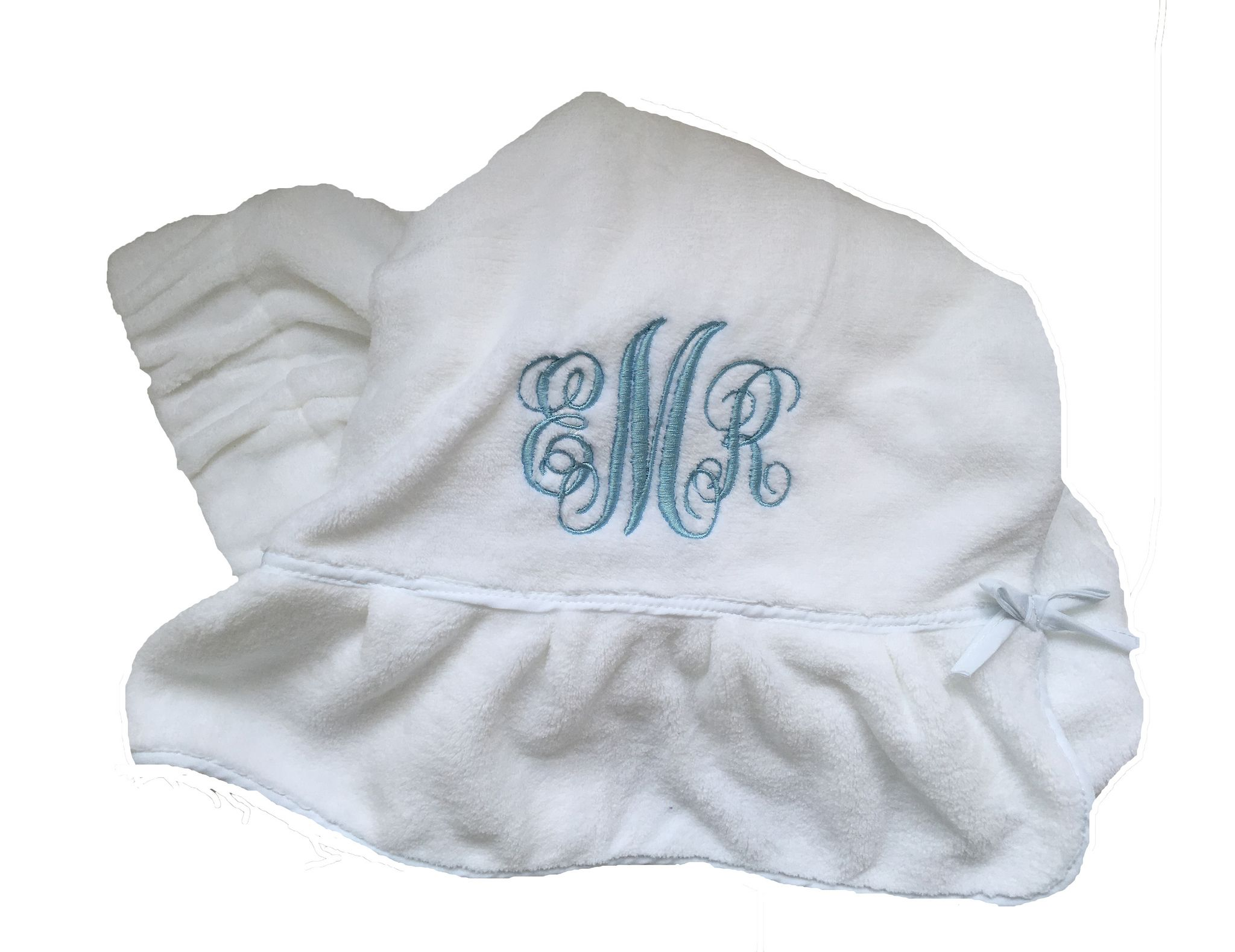 Amy Satin Embroidered and Personalized Ribbon Wedding Gown Label AND Gift Box