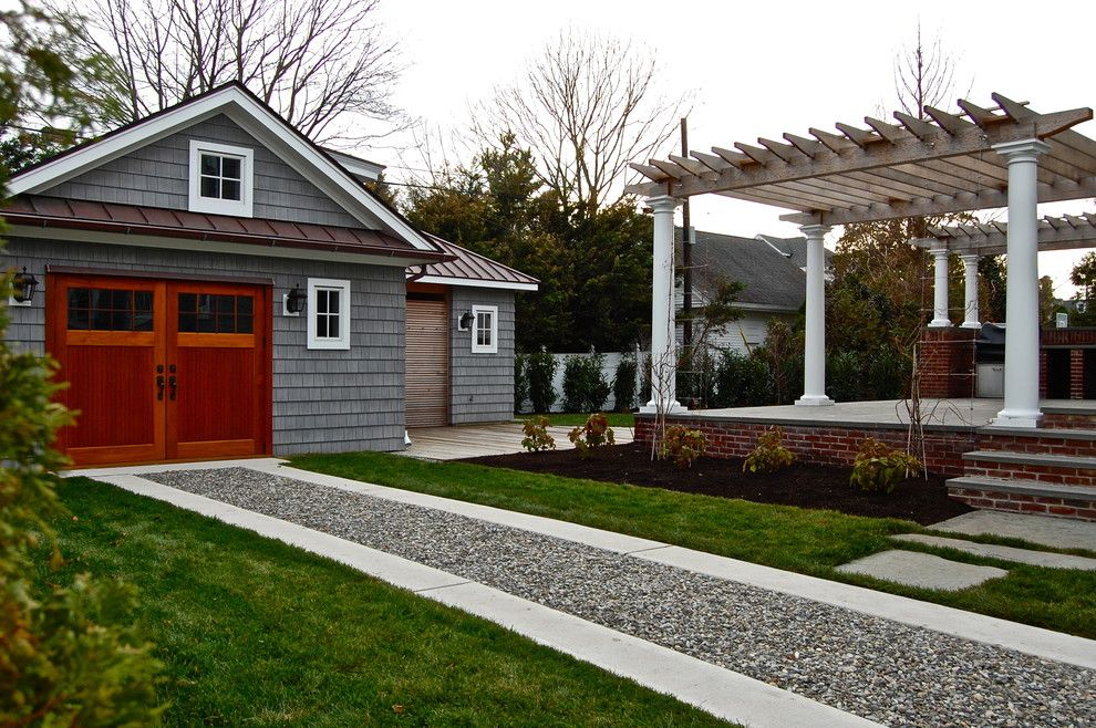 Gravel Driveway Cost Garage And Shed Traditional With Backyard Carriage  Doors Design Detached Garage Garage