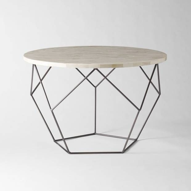 Get wired with geometric side tables | Coffee, Living rooms and ...