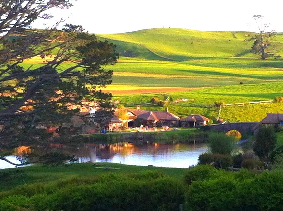 Hobbiton (film set) Matamata NZ The Shire where hobbits from J.R.R.Tolkien Lord of the rings lived