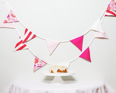 Pink banner for candy table with The Frosted Petticoat
