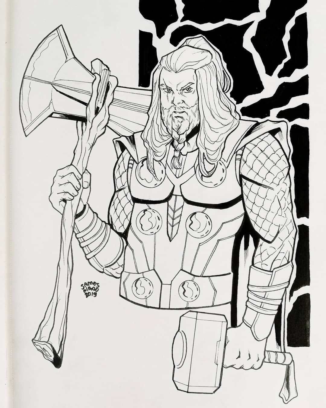 The 10 Best Today On Twitter Thor Drawing Thor Characters Instagram Art