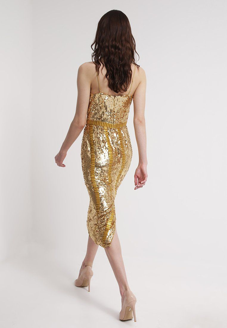Zalando kleid gold
