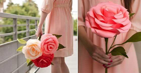 Obrie ruže z papiera-návod.
