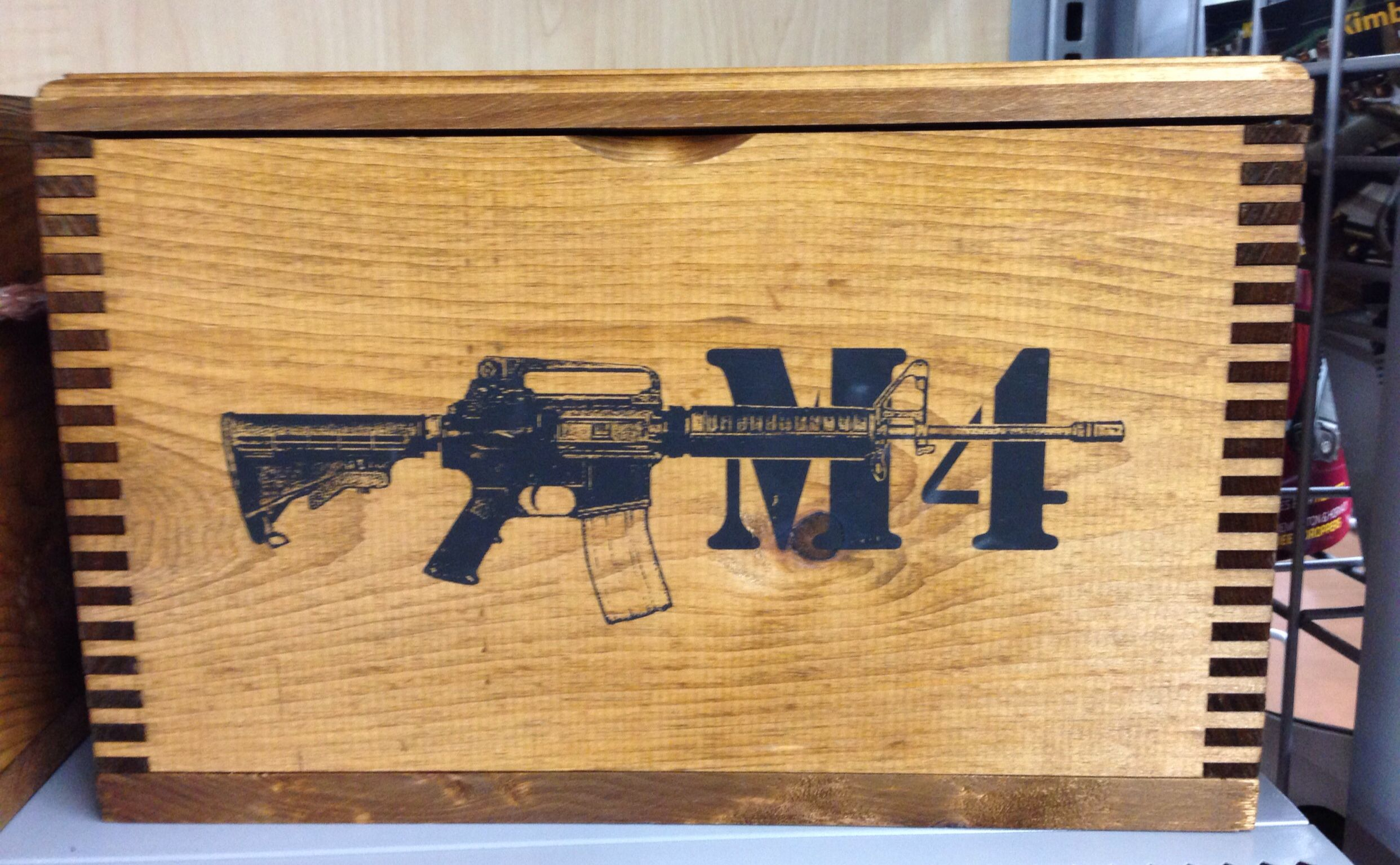 Wooden Ammo Box Walmart M4 Gunsweapons M 4 Weapons Home Decor