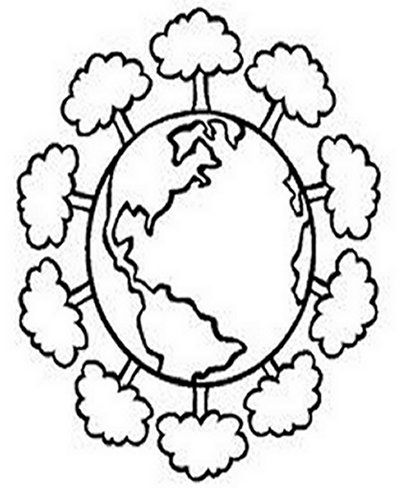 Save the Earth-Day Kids Coloring Pages Free Colouring