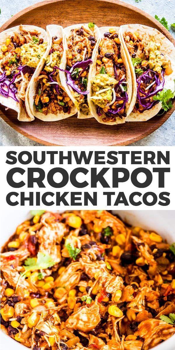 Southwestern Crockpot Chicken Tacos sind so einfach zuzubereiten, dass Sie sich fragen werden, warum Sie ...   - Best Comfort Foods -