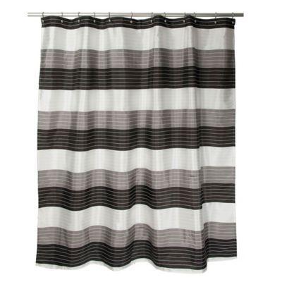 Ambrosi Striped Shower Curtain In Black White Striped Shower