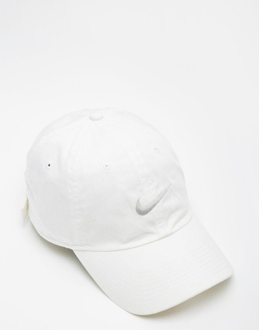 4d54fd5d7 Nike Swoosh Cap 546126-100 | Chapeau Melon | Baseball hats, Cap, Nike