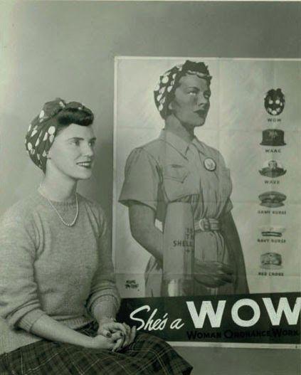 WW2 rolled fringe and bandana