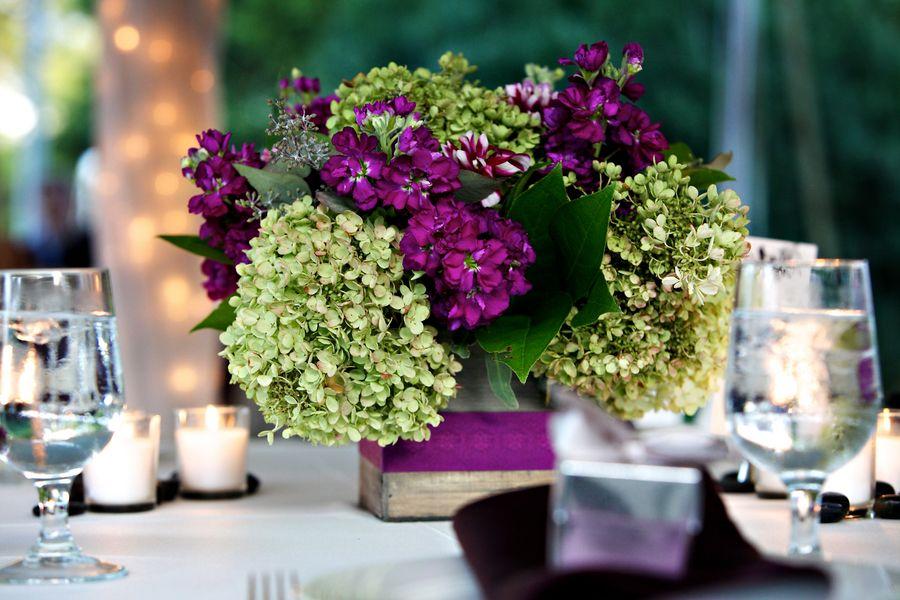 Purple And Green Wedding Centerpieces 550x366 Virginia Wedding