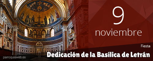 Resultado de imagen para Dedicación de la Basílica de Letrán