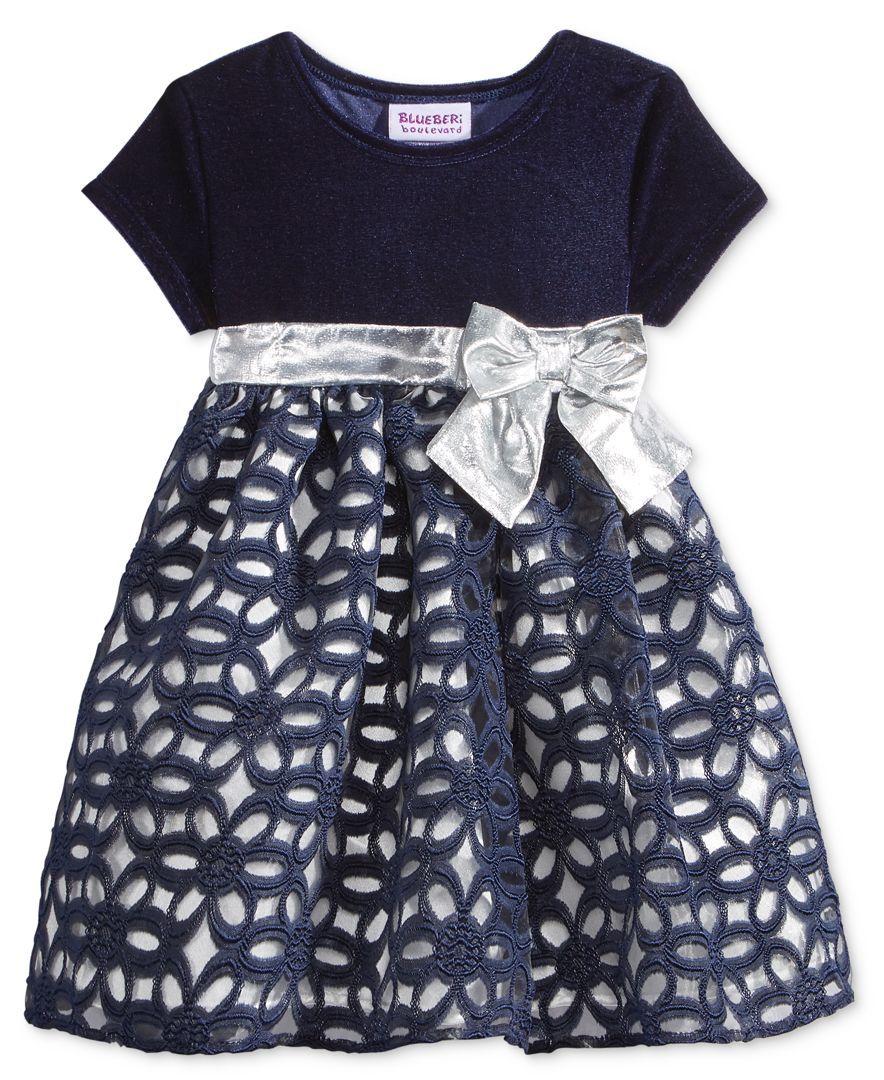 6ec1118b10b3e Blueberi Boulevard Velvet & Floral-Skirt Dress, Baby Girls (0-24 months)