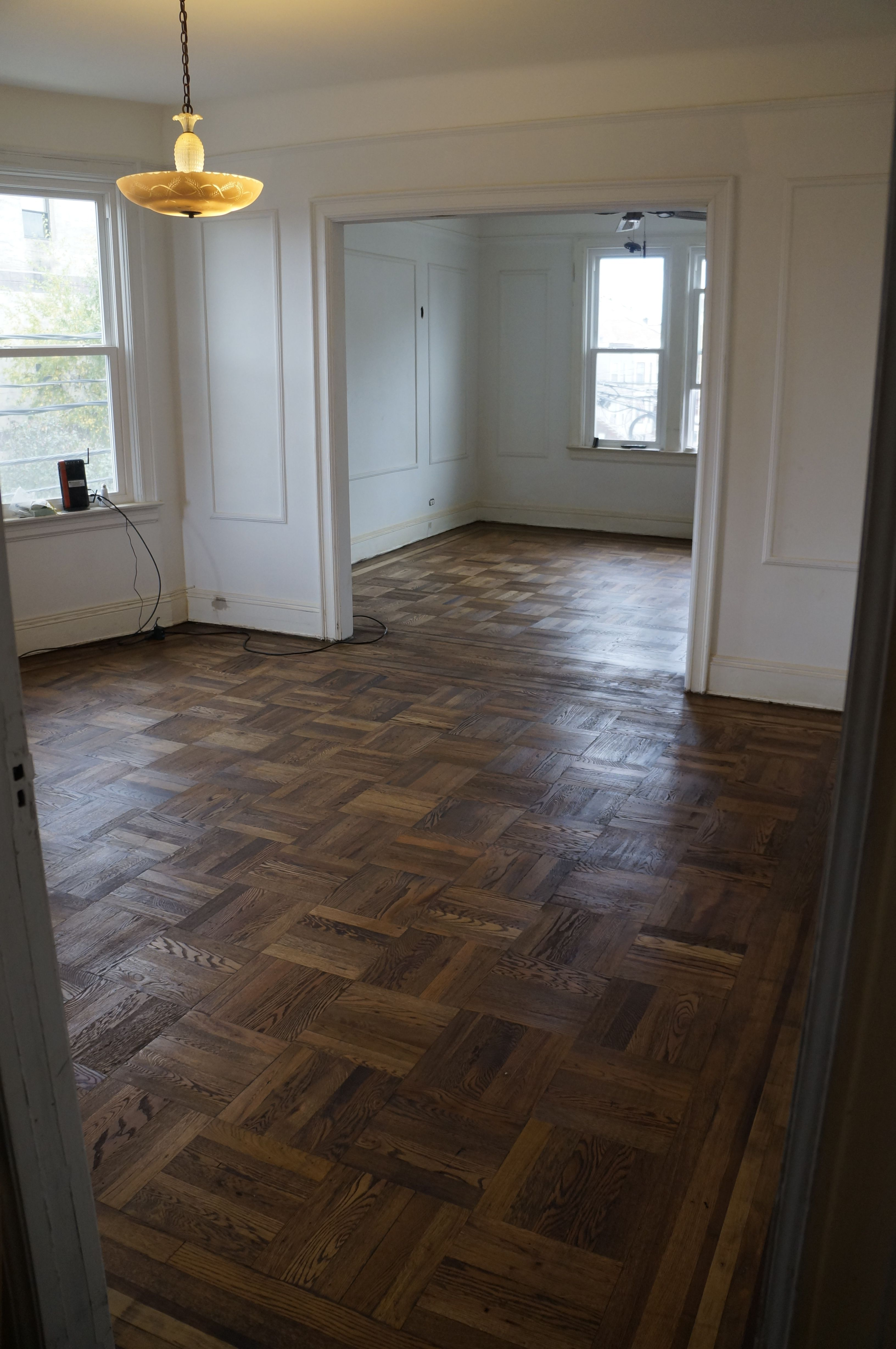 how to clean wood parquet floors