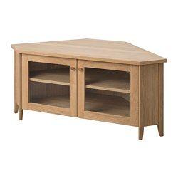 Ikea Skoghall Corner Tv Bench 1 Adjustable Shelf Adjust Spacing According To Your Own Needs Corner Furniture Living Room Tv Stand Ikea Living Room