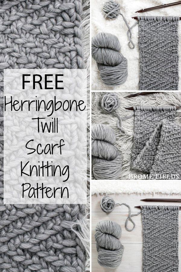 {Free} Stewardship : Herringbone Twill Scarf Knitting Pattern - Brome Fields Freeknittingpattern - Diy Crafts