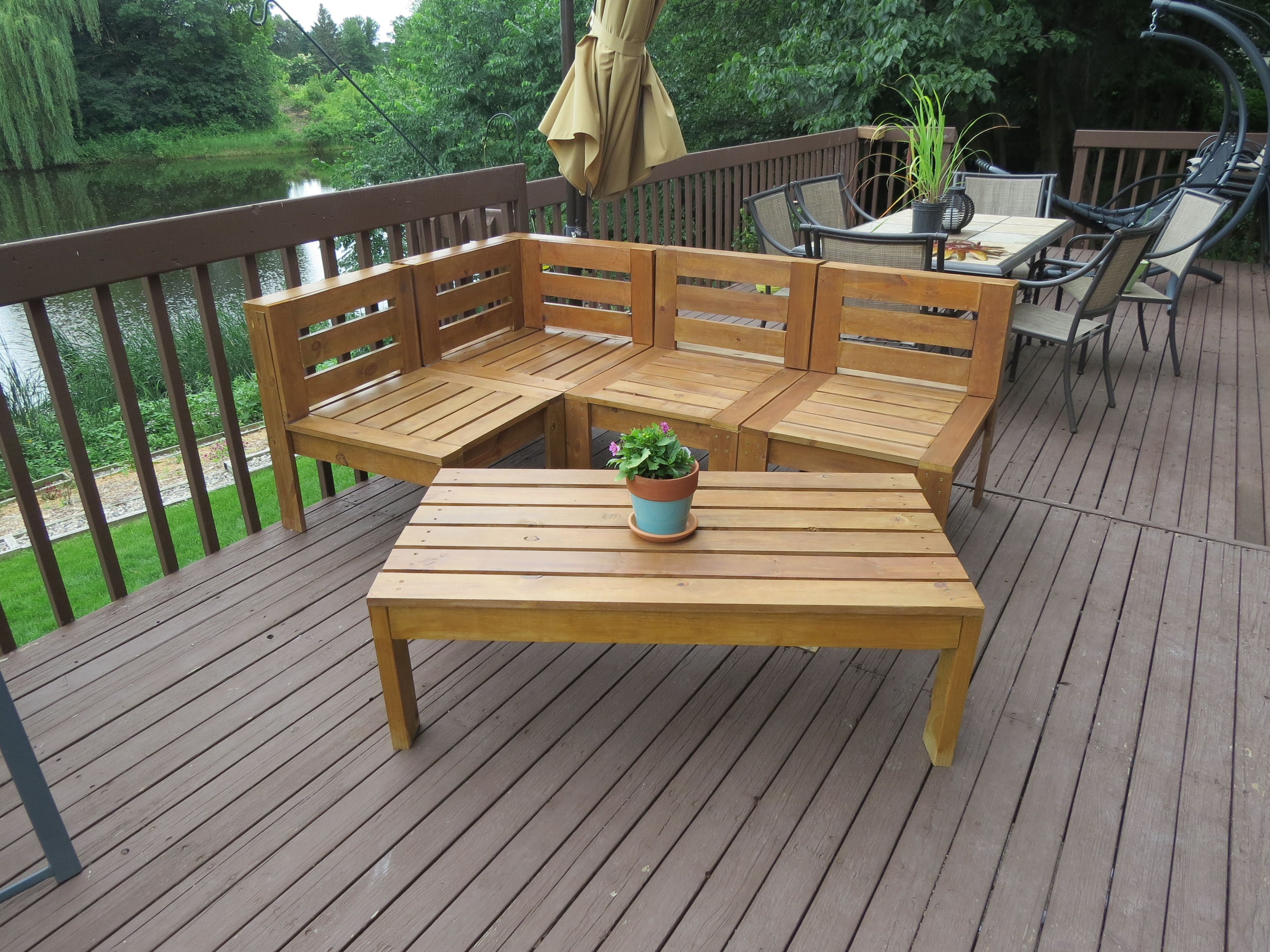 Outdoor sectional | Do It Yourself Home Projects from Ana White ...