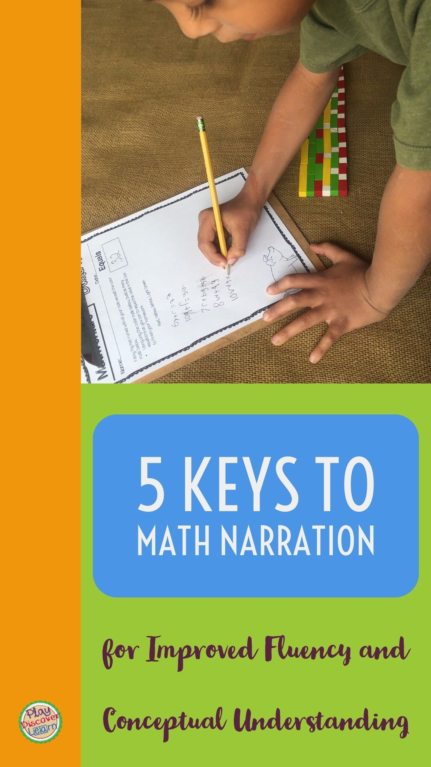 5 Keys To Math Narration For Improved Fluency And