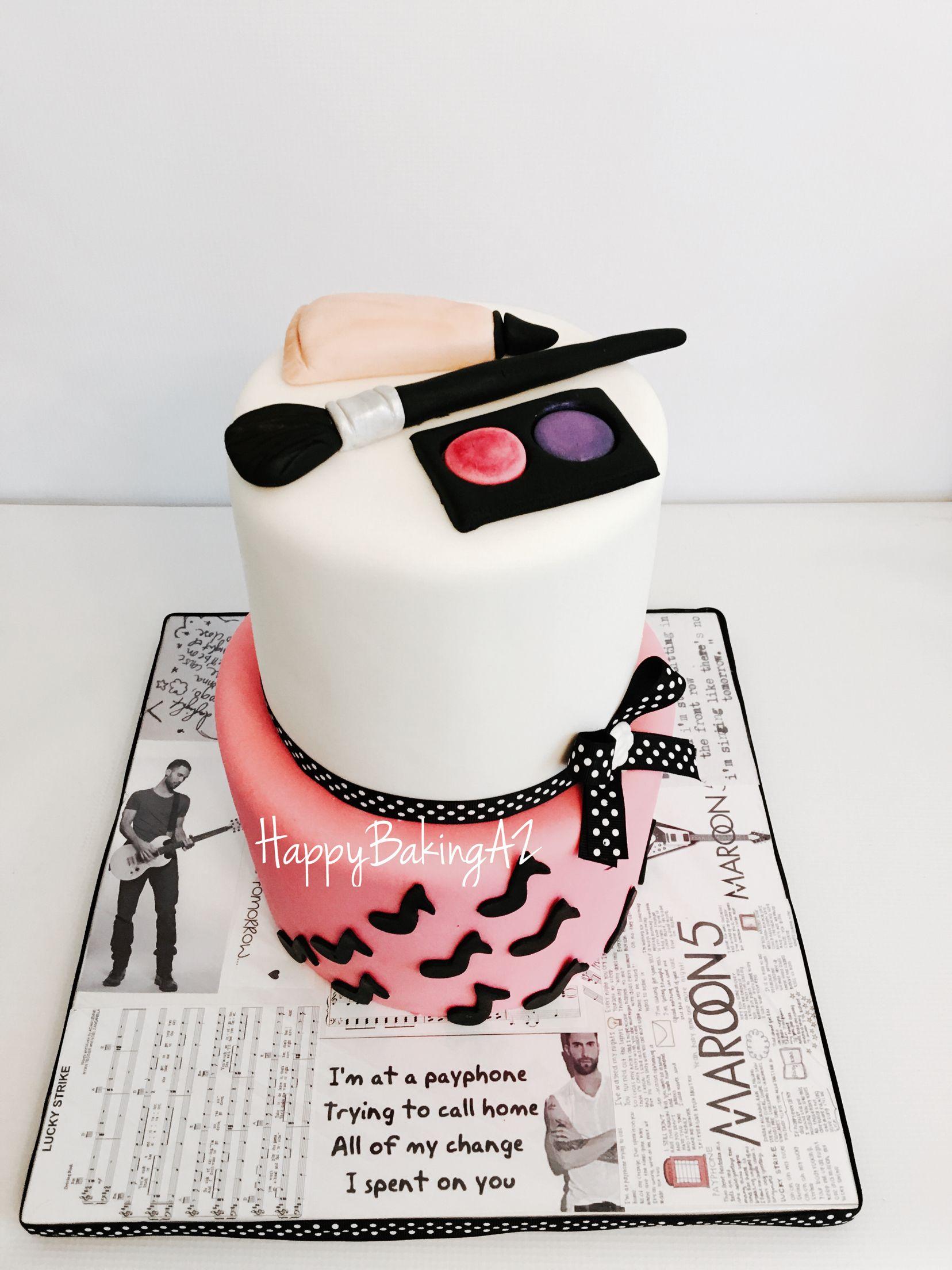 Make Up And Music Inspired Adam Levine Cake Birthday Cakes