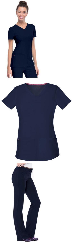 Heartsoul Scrubs Sets Pitter-Pat Black Top 20710 Pant 20110 Reg,Petite,Tall NWT