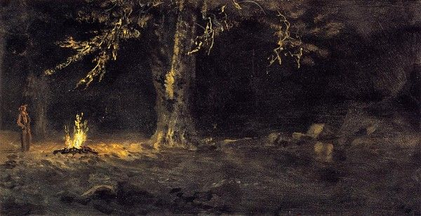 latest addition Bierstadt Albert Campfire Yosemite Valley