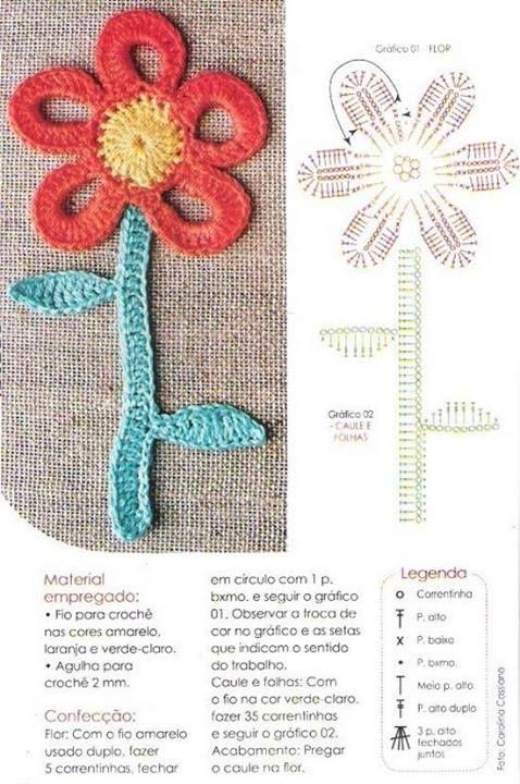 Pin de Janeta en crochet, patrones gratis   Pinterest   Apliques de ...