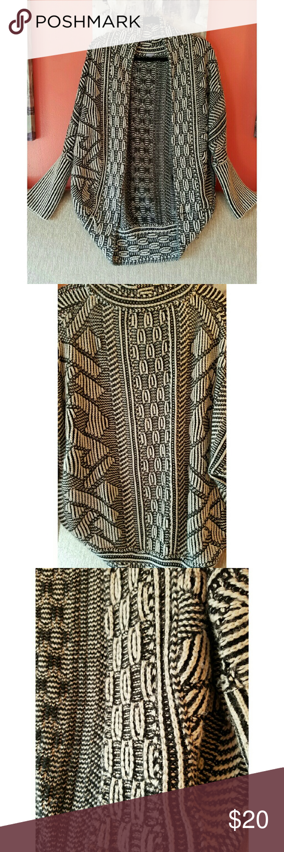 Charlotte Russe Cardigan Dress up those comfy tights with this cardi for a stylish look, Cable Knit, comfy and cozy, Aztec looking design, overall just way too cute, great condition, 100% Acrylic Charlotte Russe Sweaters Cardigans