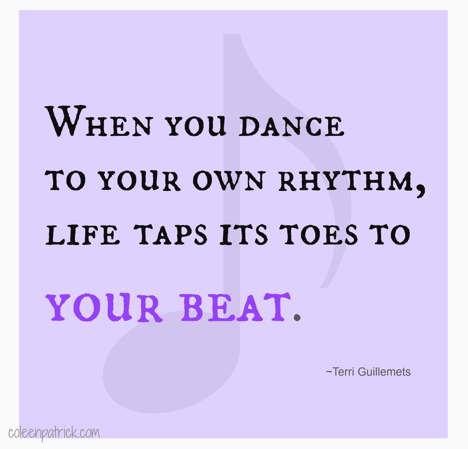 be yourself, dance to your own rhythm #quote | Tap dance ...