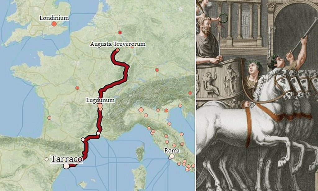 Interactive tool lets you explore the roman empires roads an interactive map of ancient roman roads and sea routes reveal how long it took and gumiabroncs Images