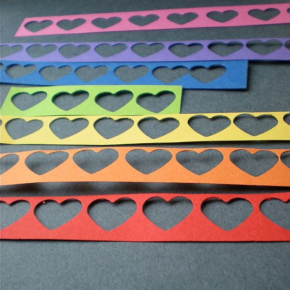DIY  OOAK Rainbow Hearted Paper Lace for by decoraland on Etsy, €5.99