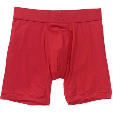 Silkskins Men's Air Cool Boxer Brief, Red