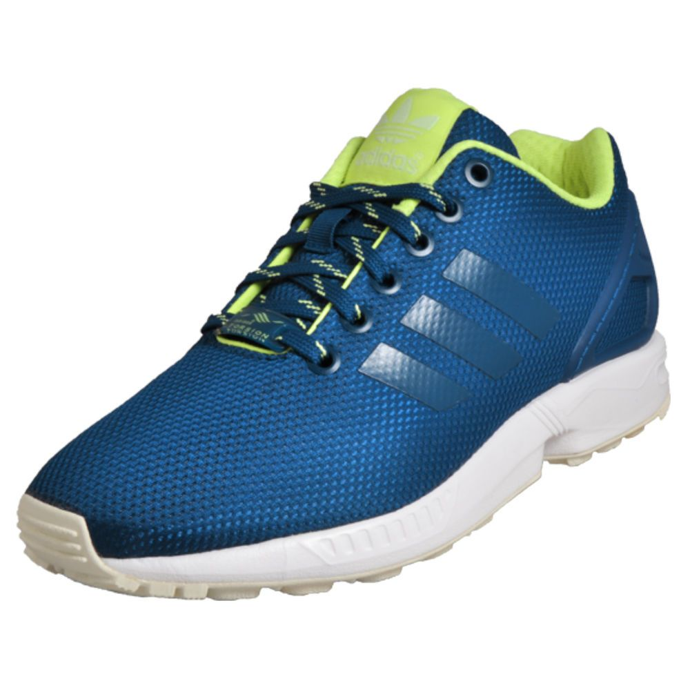 Adidas Originals ZX Flux Unisex Classic Casual Retro Trainers Blue